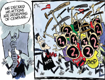 Political Cartoons U.S. Romney MAGA GOP censorship