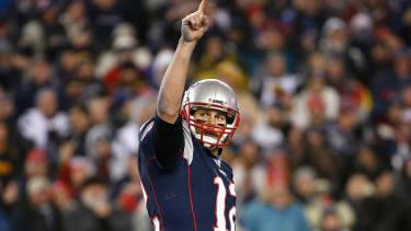 Tom Brady of the New England Patriots.
