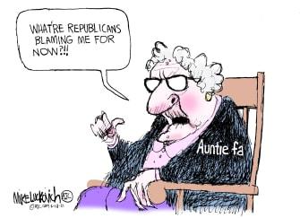 Political Cartoon U.S. gop antifa