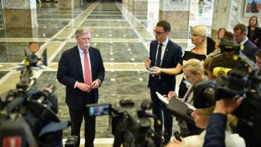 John Bolton meets the press