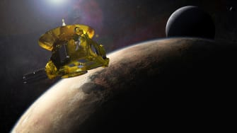 An artist rendering of the New Horizons spacecraft