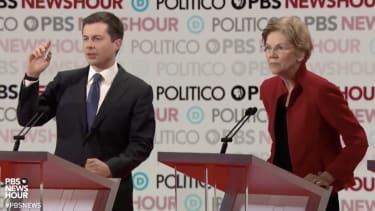 Sen. Elizabeth Warren and Pete Buttigieg.