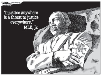 Political Cartoon U.S. Martin Luther King, Jr. Florida GOP LGBTQ rights