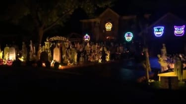 This elaborate Halloween light show draws thousands of visitors in person — and online