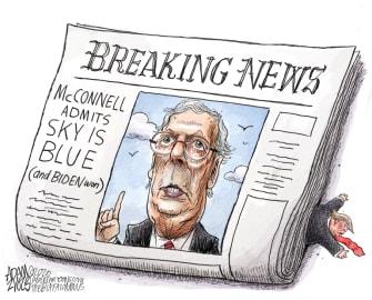 Political Cartoon U.S. McConnell Trump loss