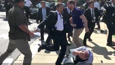 Turkish security guards kick protesters in D.C.