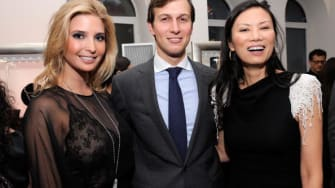 Ivanka Trump, Jared Kushner, and Wendi Deng Murdoch.