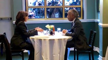 Kamala Harris and Reverend Al Sharpton.