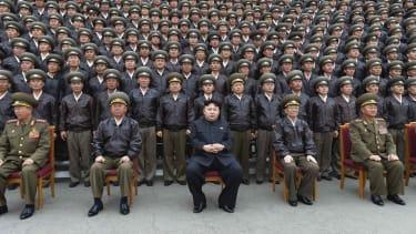 Kim Jong Un and his military.