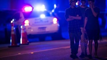 Mourners near Pulse night club in Orlando, Florida