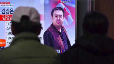 A news report about the death of Kim Jong-nam.