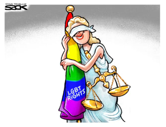 Editorial Cartoon U.S. LGBTQ supreme court ruling