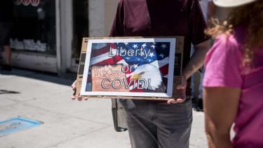 Protester in El Paso