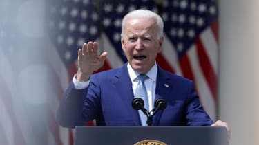 Joe Biden speaks in the Rose Garden