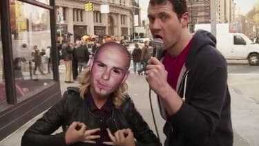 Watch Amy Poehler and Billy Eichner scare strangers by revealing she's not Pitbull