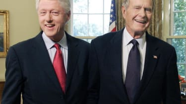 Former Presidents Bill Clinton and George H.W. Bush.