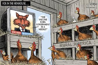 Editorial Cartoon U.S. fox news rural america