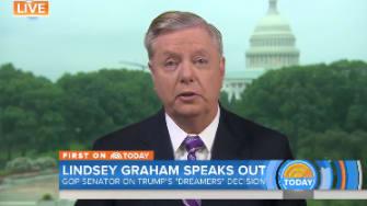 Lindsey Graham defends Trump's decision to pass DACA to Congress.