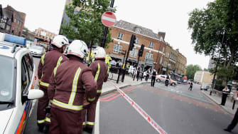 Bethnal Green emergency team in London