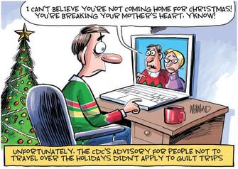 Editorial Cartoon U.S. COVID Christmas CDC