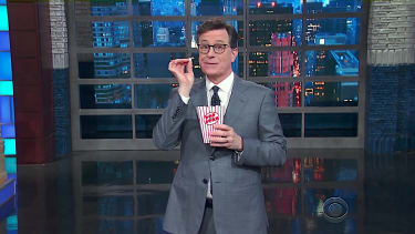 Stephen Colbert recaps a White House conference call