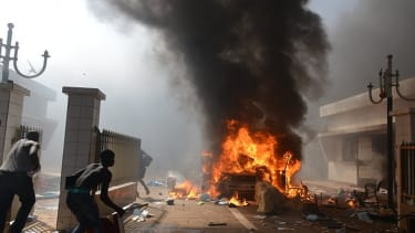 Protesters set fire to Burkina Faso's parliament building