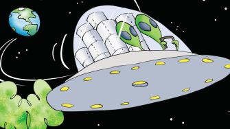 Editorial Cartoon U.S. Martian steals toilet paper valuable resources coronavirus