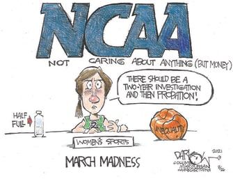 Editorial Cartoon U.S. ncaa womens sports