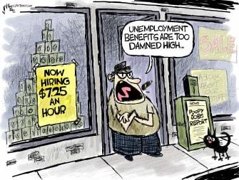 Editorial Cartoon U.S. jobs report hiring