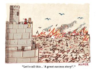 Editorial Cartoon U.S. King Trump coronavirus deaths great success