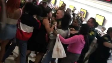Spirit Airlines passengers brawl with law enforcement after several flights were cancelled at Fort Lauderdale-Hollywood International Airport in Florida.