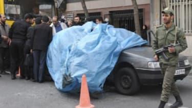 Car belonging to Iranian nuclear scientist Mostafa Ahmadi-Roshan