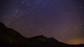 A meteor shower.