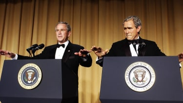 George W. Bush at the White House Correspondents' Association Dinner, 2006.