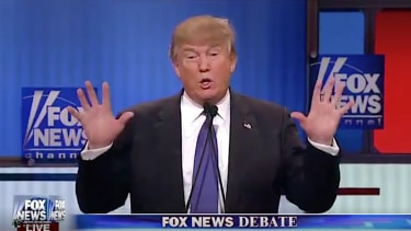 Donald Trump boasts about his hand size