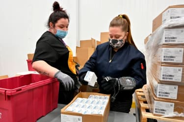 Johnson & Johnson COVID-19 vaccine shipments.