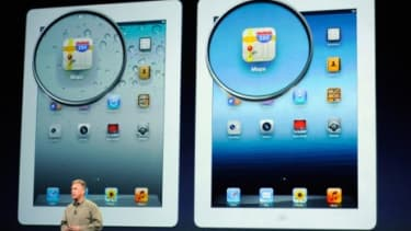 On first glance, the new iPad may look like its predecessor, but it actually boasts a retina display that has double the resolution of the iPad 2.