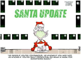Editorial Cartoon U.S. COVID Christmas