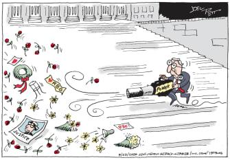 Political Cartoon U.S. McConnell SCOTUS Ginsburg