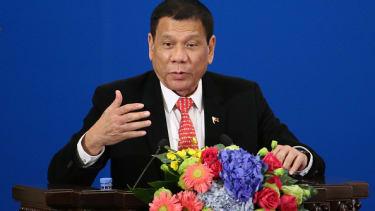 Philippines President Rodrigo Duterte on a visit to China.