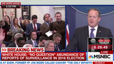 Sean Spicer and press.