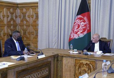 Lloyd Austin and Ashraf Ghani.