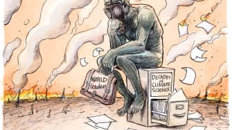 Editorial Cartoon U.S. World Leaders wildfires climate change