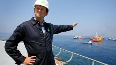 The CEO of BP, Tony Hayward.