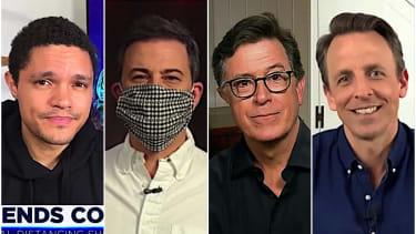 Late night hosts on Trump's victory talk