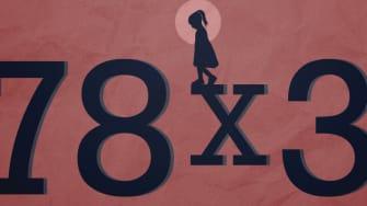 A girl on an equation.