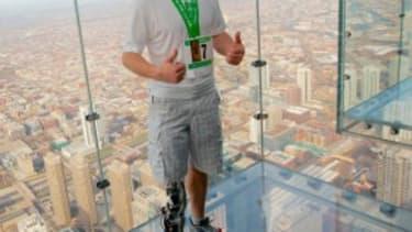 The highest skyscraper climb with a bionic leg