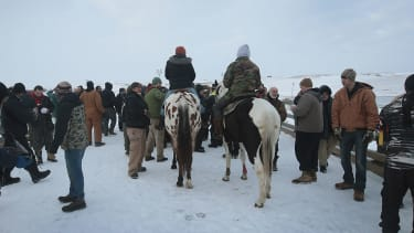 Veterans confront police at the Standing Rock protests