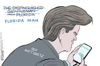 Political Cartoon U.S. matt gaetz venmo