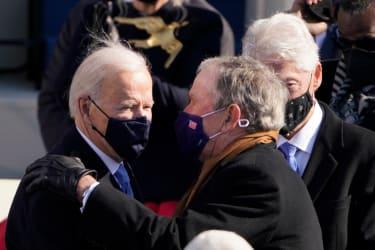 Joe Biden and George W. Bush.
